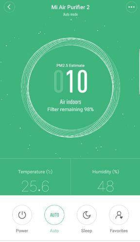 MI Air Purifier 2 Home App PM2.5