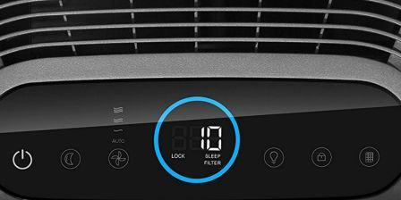 Honeywell Air Touch i8 Air Purifier Control panel